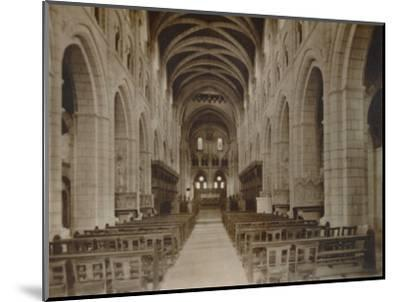 'Buckfast Abbey Church, (Interior)', late 19th-early 20th century-Unknown-Mounted Photographic Print