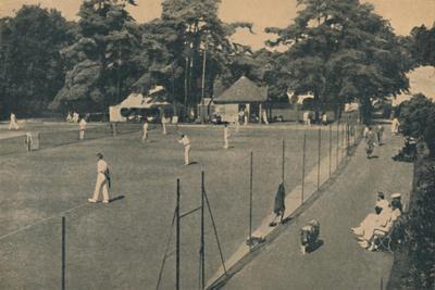 'Hard Tennis Courts, Upper Gardens', 1929-Unknown-Framed Giclee Print