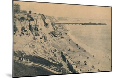 'Pier and Sands from Dudley Chine (Boscombe Pier in distance)', 1929-Unknown-Mounted Giclee Print