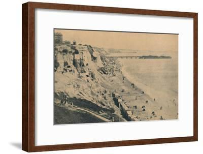 'Pier and Sands from Dudley Chine (Boscombe Pier in distance)', 1929-Unknown-Framed Giclee Print