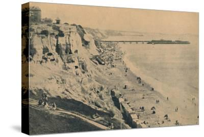 'Pier and Sands from Dudley Chine (Boscombe Pier in distance)', 1929-Unknown-Stretched Canvas Print