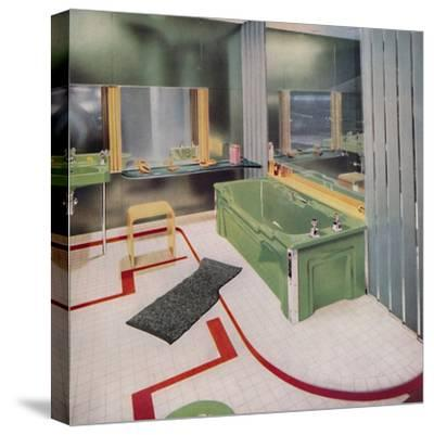 'Glass and tile in the modern Bathroom', 1938-Unknown-Stretched Canvas Print