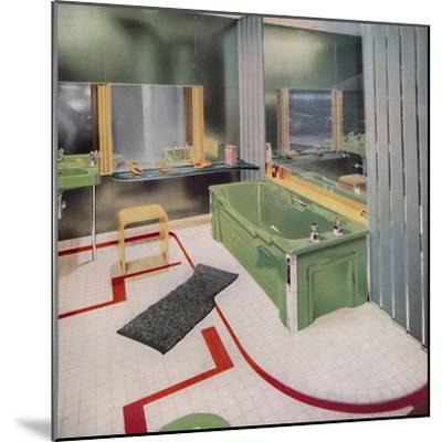 'Glass and tile in the modern Bathroom', 1938-Unknown-Mounted Photographic Print