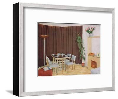 'Small Living-Dining Room', 1938-Unknown-Framed Photographic Print