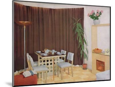 'Small Living-Dining Room', 1938-Unknown-Mounted Photographic Print