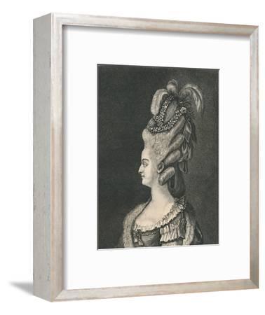 'Female Head-Gear: Marie Antoinette, 1783', (1886)-Unknown-Framed Giclee Print