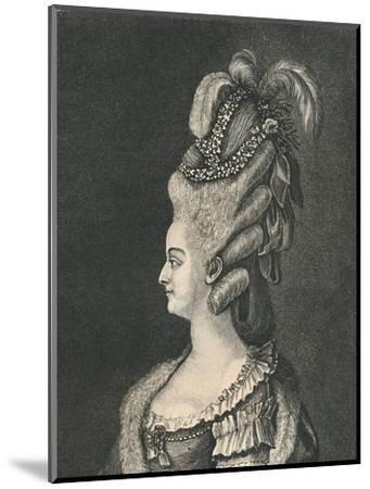 'Female Head-Gear: Marie Antoinette, 1783', (1886)-Unknown-Mounted Giclee Print