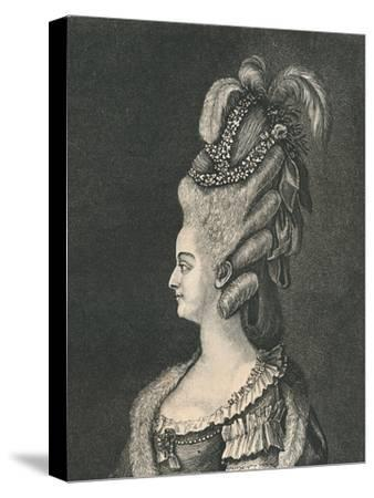 'Female Head-Gear: Marie Antoinette, 1783', (1886)-Unknown-Stretched Canvas Print