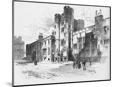 'St. James's Palace', 1886-Unknown-Mounted Giclee Print