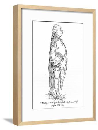 'Weltje, Clerk of the Dishclouts (the Prince's Cook)', late 18th century, (1939)-Unknown-Framed Giclee Print