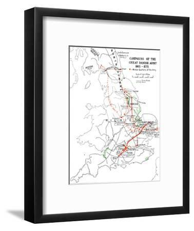 'Campaigns of the Great Danish Army 865-875.', (1935)-Unknown-Framed Giclee Print
