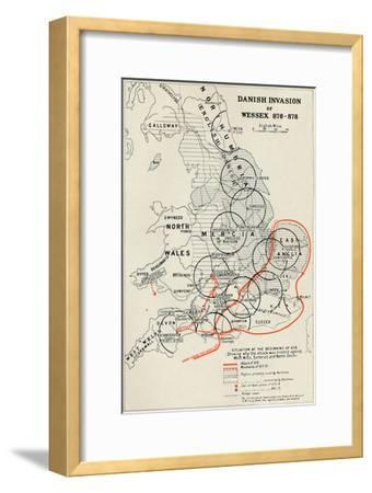 'Danish Invasion of Wessex 876-878', (1935)-Unknown-Framed Giclee Print