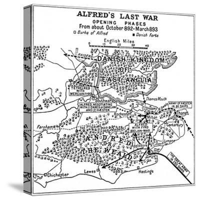 'Alfred's Last War - Opening Phases. From about October 892-March 893', (1935)-Unknown-Stretched Canvas Print