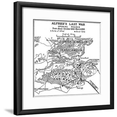 'Alfred's Last War - Opening Phases. From about October 892-March 893', (1935)-Unknown-Framed Giclee Print