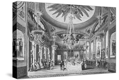 'The Banqueting Room', c1827, (1939)-Unknown-Stretched Canvas Print