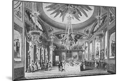 'The Banqueting Room', c1827, (1939)-Unknown-Mounted Giclee Print
