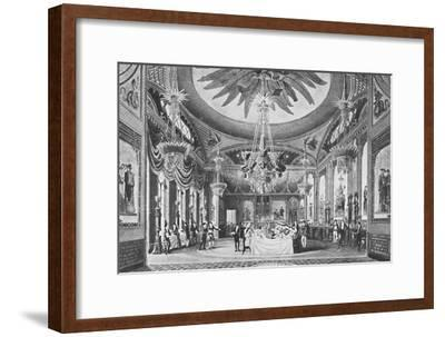 'The Banqueting Room', c1827, (1939)-Unknown-Framed Giclee Print