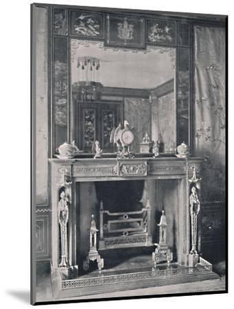 'Marble Mantelpiece', 1939-Unknown-Mounted Photographic Print