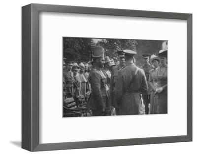 'H.M. King George V Talking To Sir Walter Lawrence and Mir Dast, V.C., 25th August 1915', (1939)-Unknown-Framed Photographic Print