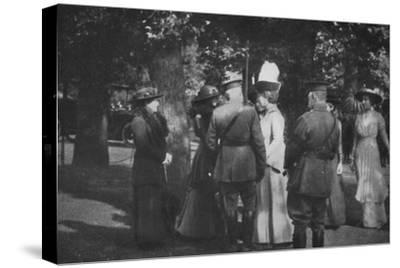 'H.M. Queen Mary after the Investiture of the 25th August 1915', (1939)-Unknown-Stretched Canvas Print