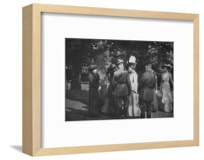 'H.M. Queen Mary after the Investiture of the 25th August 1915', (1939)-Unknown-Framed Photographic Print
