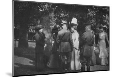 'H.M. Queen Mary after the Investiture of the 25th August 1915', (1939)-Unknown-Mounted Photographic Print