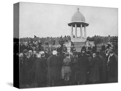'Unveiling of the Chattri by H.R.H. The Prince of Wales, 1st February 1921', (1939)-Unknown-Stretched Canvas Print
