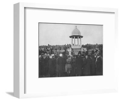 'Unveiling of the Chattri by H.R.H. The Prince of Wales, 1st February 1921', (1939)-Unknown-Framed Photographic Print