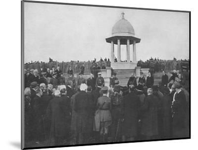 'Unveiling of the Chattri by H.R.H. The Prince of Wales, 1st February 1921', (1939)-Unknown-Mounted Photographic Print