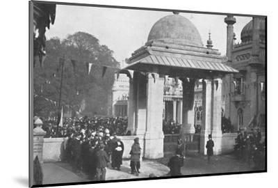 'Unveiling of the Indian Memorial Gateway by the Maharaja of Patiala, 26th October 1921', (1939)-Unknown-Mounted Photographic Print