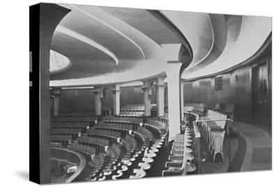 'The Dome: Interior After the Alterations - details of inner roof and panelling', 1939-Unknown-Stretched Canvas Print