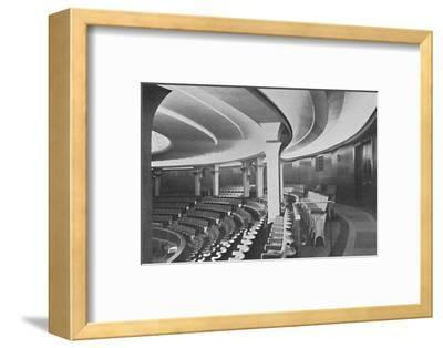 'The Dome: Interior After the Alterations - details of inner roof and panelling', 1939-Unknown-Framed Photographic Print