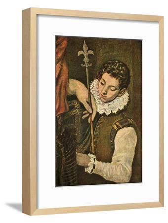 'St. Louis of France (or St. Ferdinand of Castile)', c1586-1590, (1938)-El Greco-Framed Giclee Print
