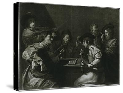 'Lute, violin and black (curved) zink; Italian engraving of the year 1784', 1948-Unknown-Stretched Canvas Print
