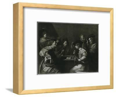 'Lute, violin and black (curved) zink; Italian engraving of the year 1784', 1948-Unknown-Framed Giclee Print