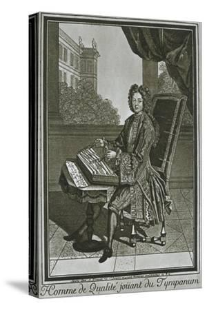 'Dulcimer (tympanum), French engraving of the seventeenth century', 1948-Unknown-Stretched Canvas Print