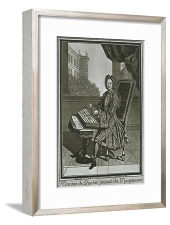 'Dulcimer (tympanum), French engraving of the seventeenth century', 1948-Unknown-Framed Giclee Print