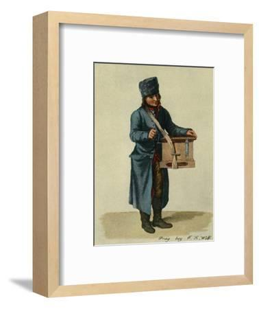 'Hooked harp and barrel-organ. Types of Prague musicians', 1948-Unknown-Framed Giclee Print