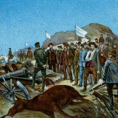 'In Cronje's Laager after Surrender', 1900-Unknown-Framed Giclee Print