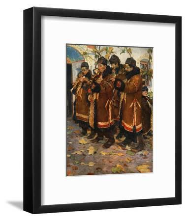 'Musicians from Hroznovà Lhota: clarinet, violin and double bass. (1861-1940)', 1948-Joza Uprka-Framed Giclee Print