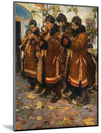 'Musicians from Hroznovà Lhota: clarinet, violin and double bass. (1861-1940)', 1948-Joza Uprka-Mounted Giclee Print