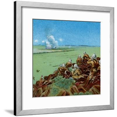 'The Fight at Paardeberg', 1900-Unknown-Framed Giclee Print