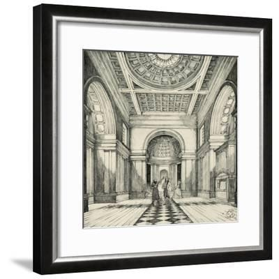 'Interior of Ayot St. Lawrence Church, Hertfordshire', (1938)-Unknown-Framed Giclee Print