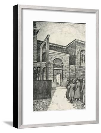 'The Debtor's Door, Newgate Prison, London, in 1821', (1938)-Unknown-Framed Giclee Print