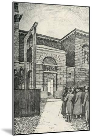 'The Debtor's Door, Newgate Prison, London, in 1821', (1938)-Unknown-Mounted Giclee Print