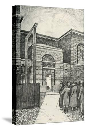 'The Debtor's Door, Newgate Prison, London, in 1821', (1938)-Unknown-Stretched Canvas Print