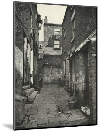 'Back-to-Back Houses in the North of England', (1938)-Unknown-Mounted Giclee Print