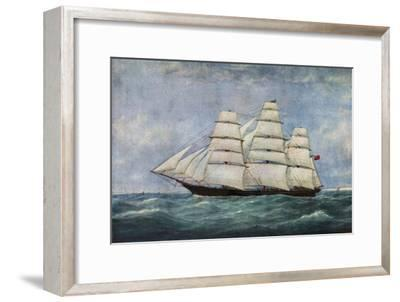 'The Tea Clipper Spindrift', (1938)-Unknown-Framed Giclee Print