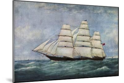 'The Tea Clipper Spindrift', (1938)-Unknown-Mounted Giclee Print