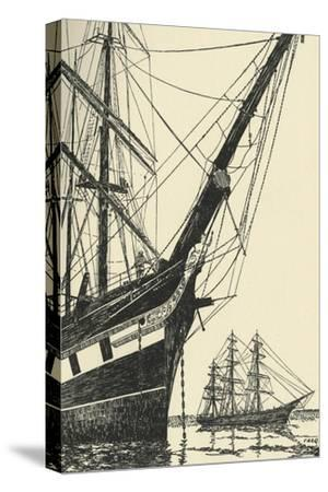 'The Cutty Sark (1869), in Falmouth Harbour', (1938)-Unknown-Stretched Canvas Print